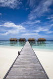 Luxury hotel in tropical island Stock Images