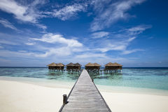 Luxury hotel in tropical island Royalty Free Stock Image