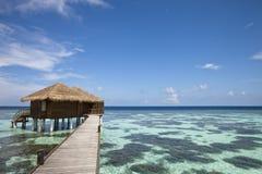 Luxury hotel in tropical island Stock Photo