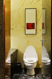 Luxury hotel washroom stock photo