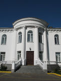 Luxury house. Beautiful Luxury house with columns and blue sky royalty free stock photos