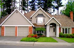 Luxury house. A luxury house in the pacific northwest Stock Images