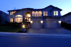Luxury House. Street View of a New large American house Stock Photography