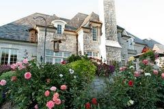 Luxury House. With garden patio Stock Image