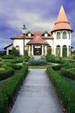 Luxury house. With decorative yard Royalty Free Stock Photos