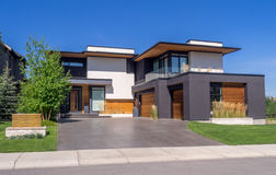 Luxury house, Calgary. Luxury house at sunny day in Calgary, Canada Royalty Free Stock Photography