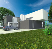 Luxury house and  car Royalty Free Stock Photo