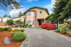 Luxury house with curb appeal Stock Photo
