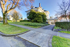 Luxury house driveway view Stock Photos