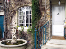 Luxury house entrance. The entrance of a luxury house in France Royalty Free Stock Photo