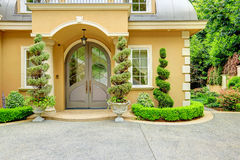 Luxury house exterior. Front door Stock Image