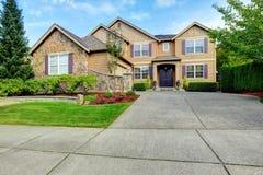 Luxury house exterior with stone trim Stock Photo