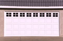 Luxury House Garage Door. Big Luxury Modern House Garage Stock Photo