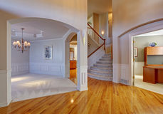 Luxury house interior with archways and high ceiling Royalty Free Stock Photography