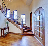 Luxury house interior. Entrance hallway with staircase Stock Photo