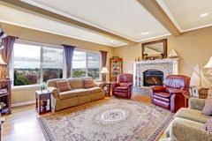 Luxury house interior. Living room Royalty Free Stock Images