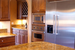 Luxury House Kitchen View Stock Photo