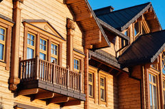 Luxury house with log close up Stock Image