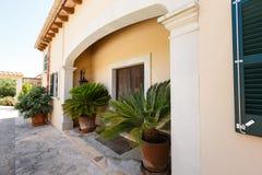 Luxury house in Mallorca. Entrance to the Spanish house nearby the Mediterranean Sea, Mallorca Stock Photos
