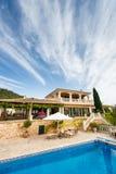 Luxury house in Mallorca. Spanich real estate of Mediterranean seashore, Mallorca Stock Photography