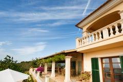 Luxury house in Mallorca. Spanich real estate of Mediterranean seashore, Mallorca Royalty Free Stock Photography