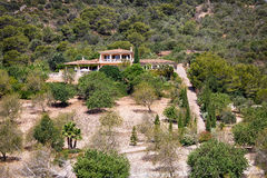 Luxury house in Mallorca. Spanish real estate of Mediterranean seashore, Mallorca Royalty Free Stock Image
