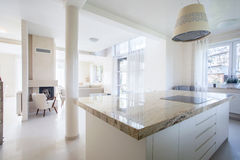 Luxury house with marble elements. Interior of luxury house with marble elements stock images