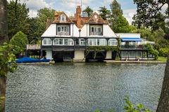 Luxury house on the River Thames, England. Royalty Free Stock Images