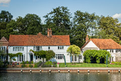Luxury house on the River Thames, England. royalty free stock photo