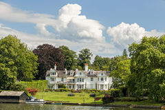 Luxury house on the River Thames, England. Stock Image