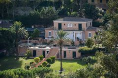 Luxury house in Saint-Tropez royalty free stock image