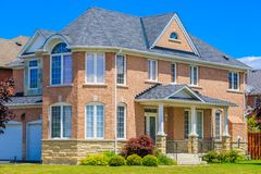 Luxury house  in the suburbs of Toronto Royalty Free Stock Image