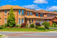 Luxury house  in the suburbs of Toronto Royalty Free Stock Images