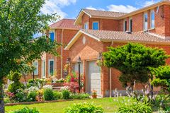 Luxury house  in the suburbs of Toronto Royalty Free Stock Photography
