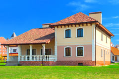 Luxury house at sunny day Stock Images