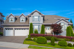 Luxury house. At sunny day in Vancouver, Canada stock photo
