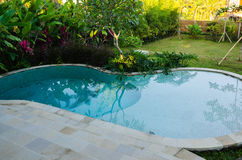Luxury house with swimming pool Stock Photos