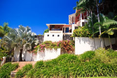 Luxury house in the tropics Royalty Free Stock Photo