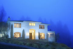 Luxury house in twilight Stock Photo
