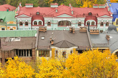 Luxury houses at autumn Royalty Free Stock Images