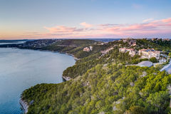 Luxury houses on the coast of Lake Travis in Austin,  Texas Stock Images
