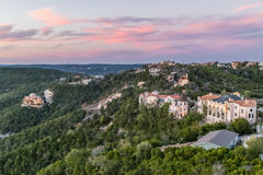 Luxury houses on the coast of Lake Travis in Austin,  Texas. Luxury houses on the coast of Lake Travis in Austin, Texas Royalty Free Stock Photos