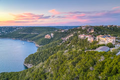 Luxury houses on the coast of Lake Travis in Austin,  Texas Royalty Free Stock Image