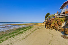 Luxury houses with exit to private beach, Burien, WA Stock Image
