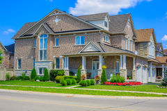 Luxury houses in North America. Custom built luxury house in the suburbs of Toronto, Canada royalty free stock photography