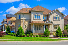Luxury houses in North America. Custom built luxury house in the suburbs of Toronto, Canada royalty free stock photo