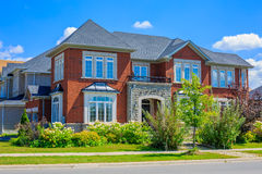 Luxury houses in North America. Custom built luxury house in the suburbs of Toronto, Canada stock image