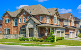 Luxury houses in North America. Custom built luxury house in the suburbs of Toronto, Canada stock images