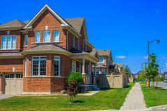 Luxury houses in North America. Custom built luxury house in the suburbs of Toronto, Canada stock photos