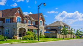 Luxury houses in North America Royalty Free Stock Images